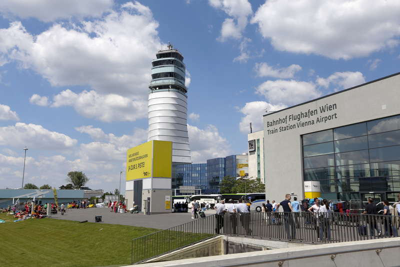 Vienna Airport is formed by two terminals located in the same building.